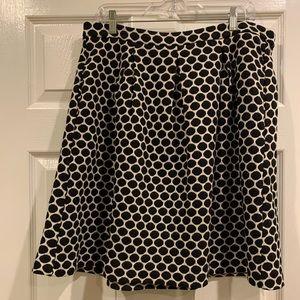 Boden black and white dot skirt